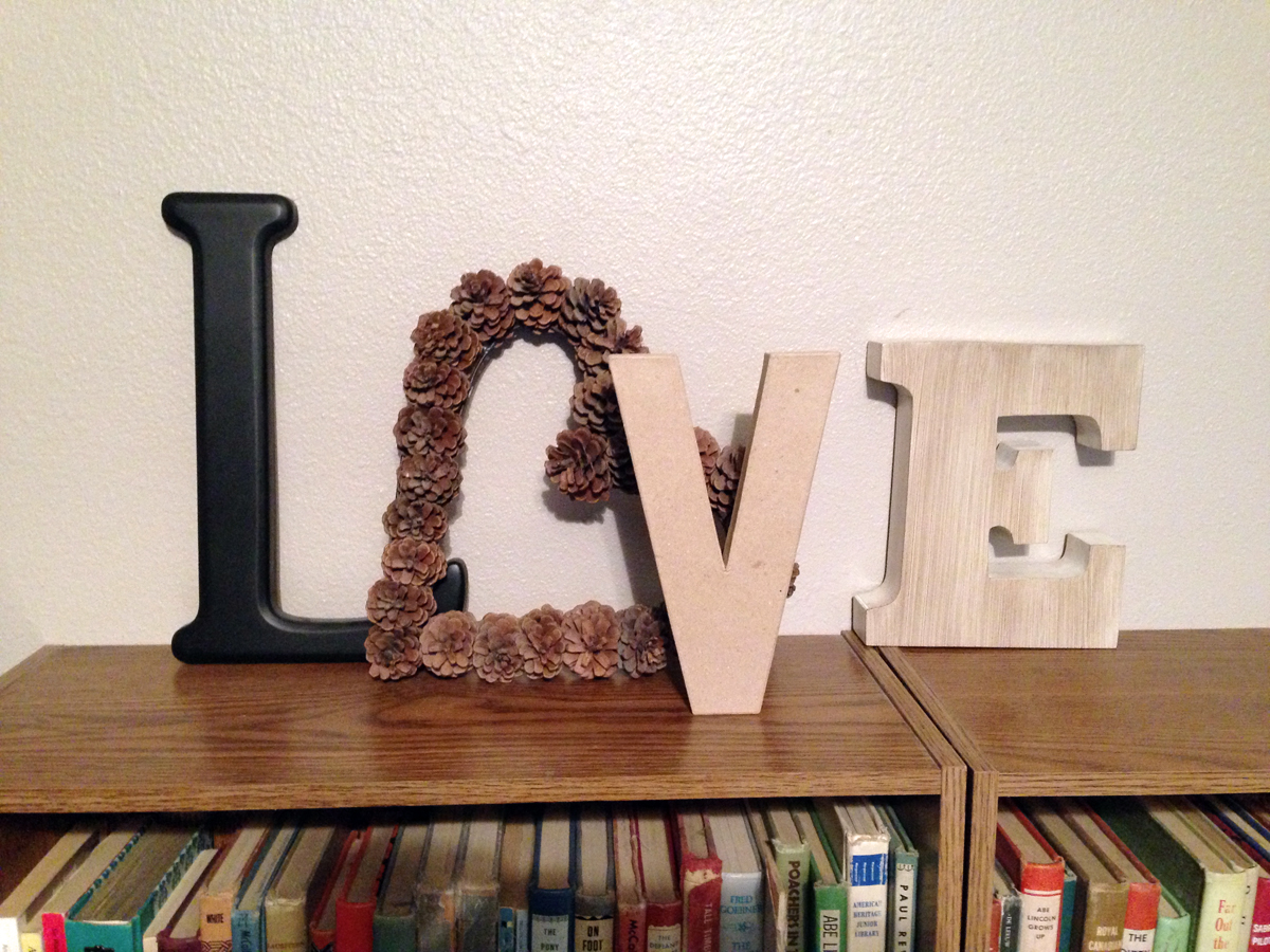 Use the word LOVE as a home accent {Love My DIY Home}