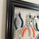 DIY Framed Wire Tool Hanger – Re-purpose Old Picture Frames Part 2