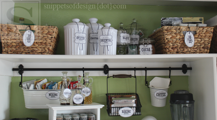 Snippets of Design shows us her new pantry design