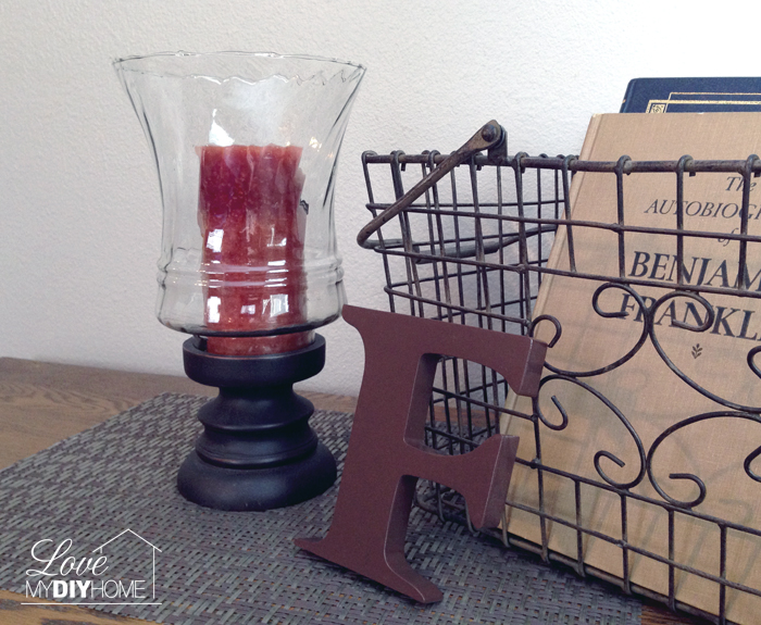 From Trash to Treasure – DIY Hurricane Lamp Candle Holder