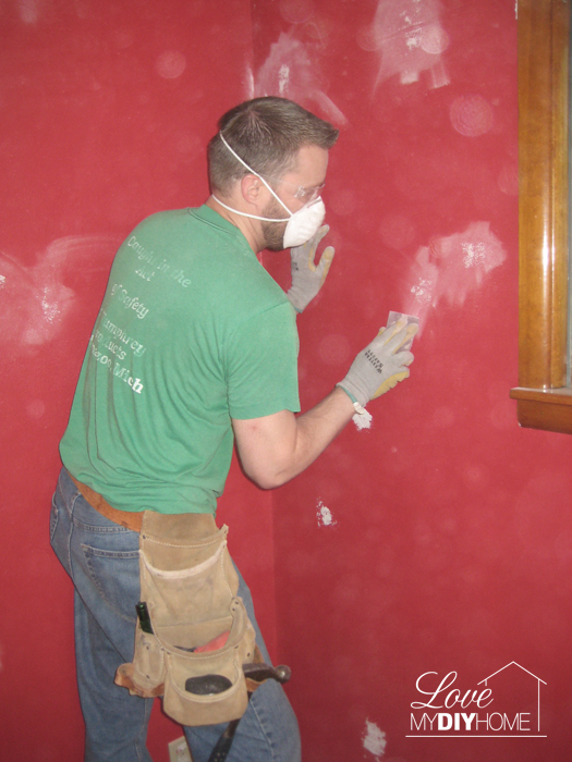 Properly prepare the walls for painting {Love My DIY Home}