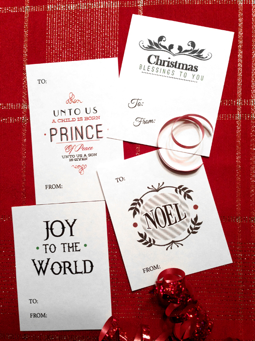 Free Christmas Gift Tags {Love My DIY Home}
