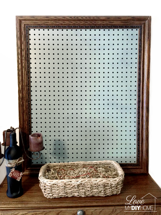Painted Pegboard for DIY Craft Room {Love My DIY Home}