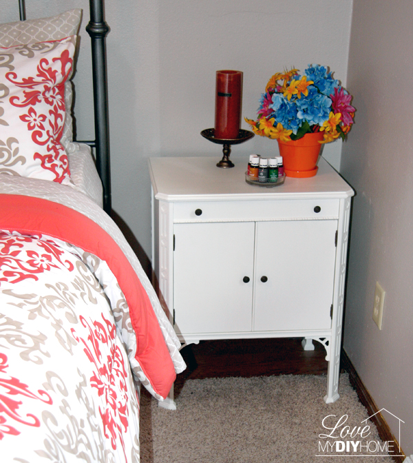 Painted Antique Nightstand {Love My DIY Home}