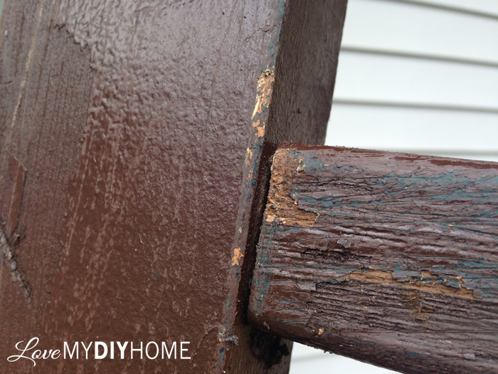 Deck Railing to Ladder Upcycle 2015 {Love My DIY Home}