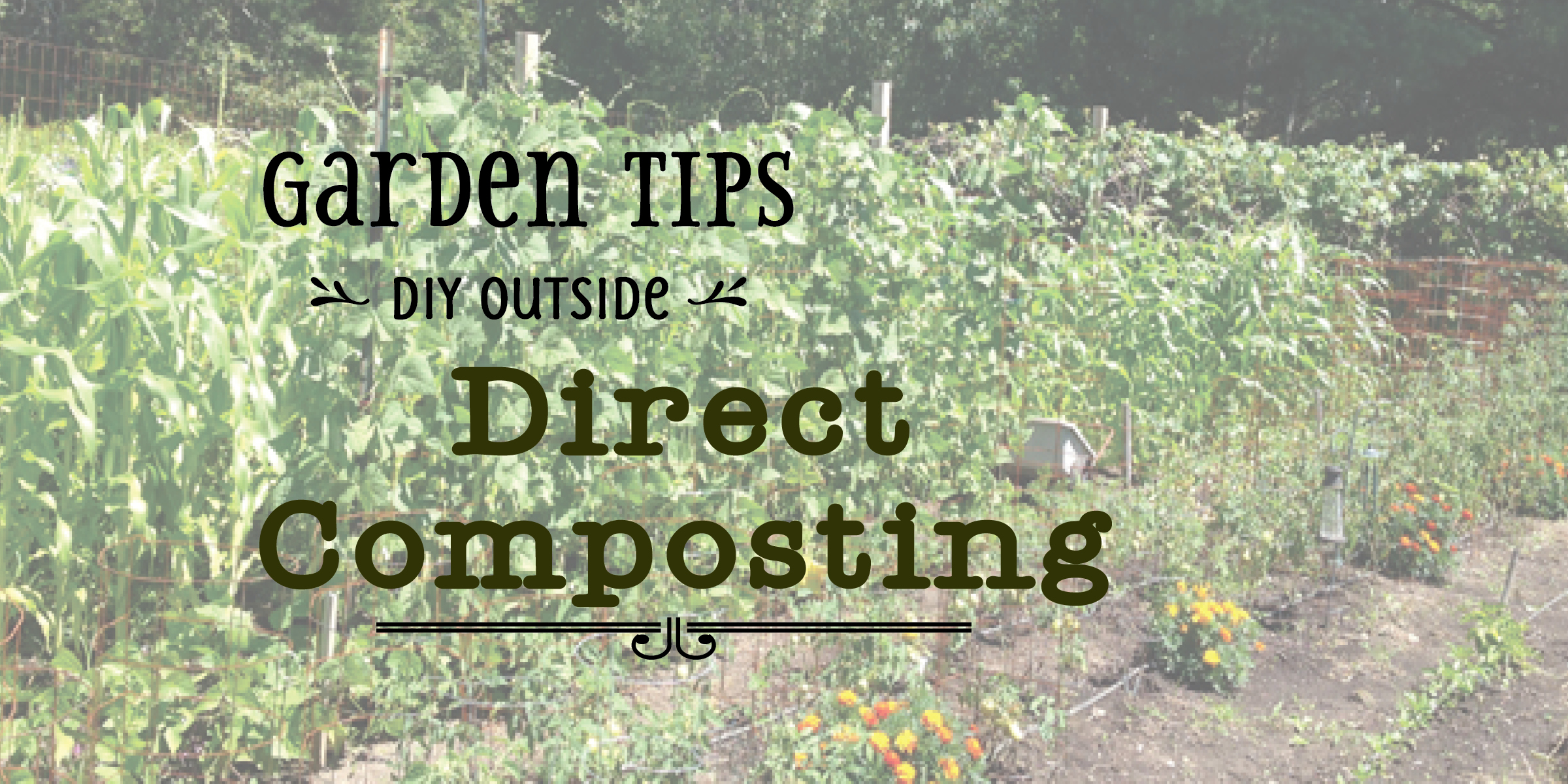 Direct Composting {Love My DIY Home}