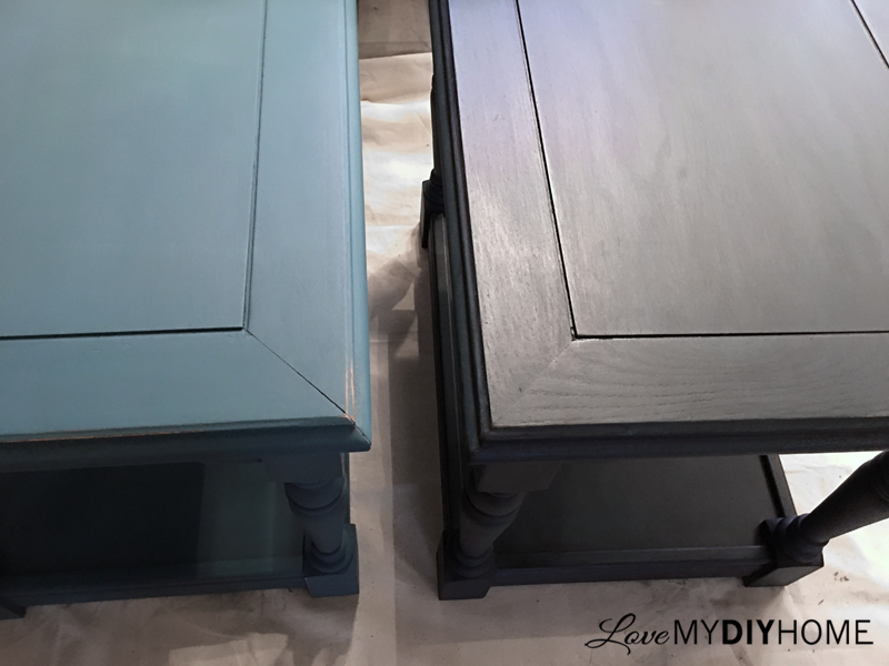 End Tables & Wise Owl Chalk Synthesis Paint {Love My DIY Home}